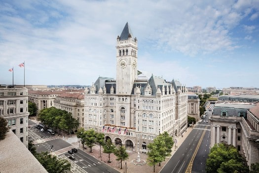 Trump's company intends to sell its flagship Washington D.C. hotel
