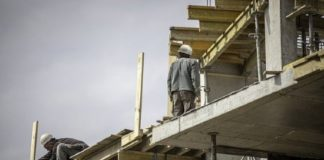US construction starts move lower in January