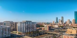 CIM Group tops out construction of Class A office building in Boston